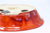 "Roy Minarai Glazed Red Oval Bonsai Pot - 7"" x 5.5"" x 1.5"""