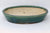 "Japanese Tokoname Koyo Blue/Green Glazed Oval Bonsai Tree Pot - 9.75"" x 8.15"" x 1.83"""