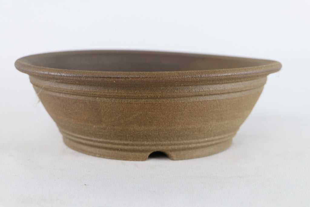 "Sam Miller Unglazed Round Bonsai Pot - 9"" x 3"""
