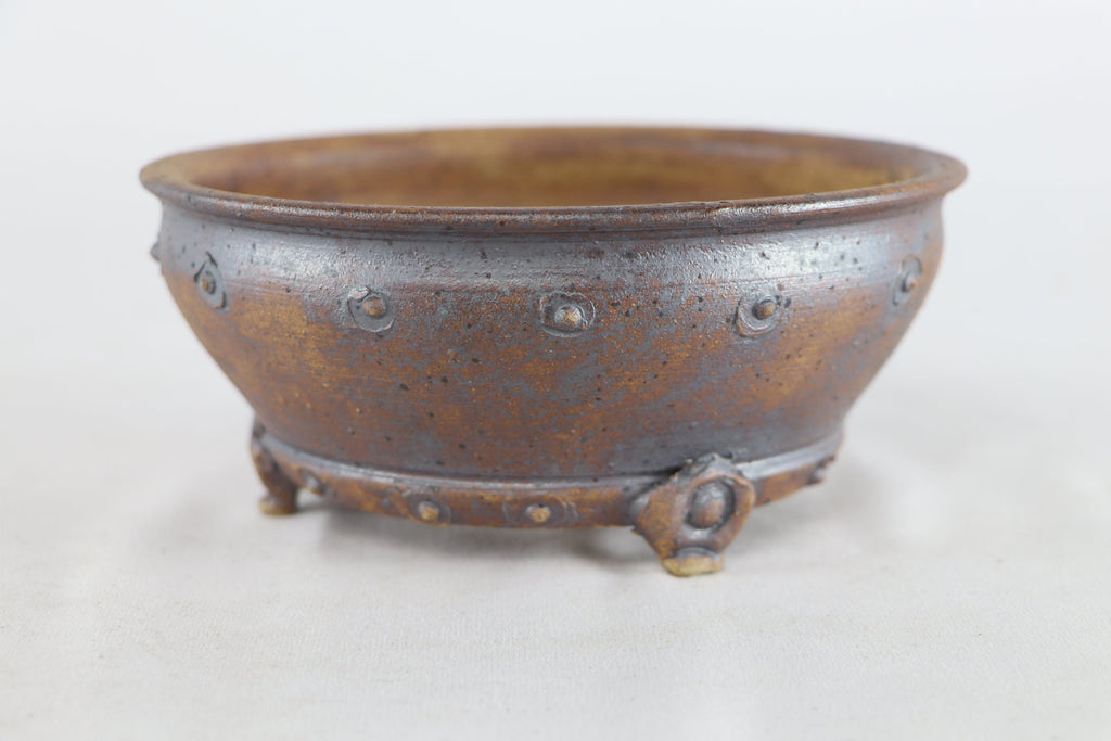 "Sam Miller Unglazed Round Bonsai Pot - 6.25"" x 2.75"""