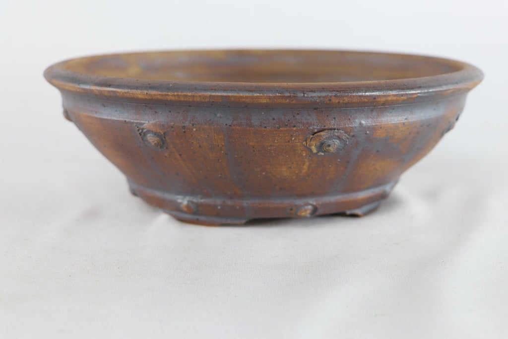 "Sam Miller Unglazed Round Bonsai Pot - 8"" x 2.75"""