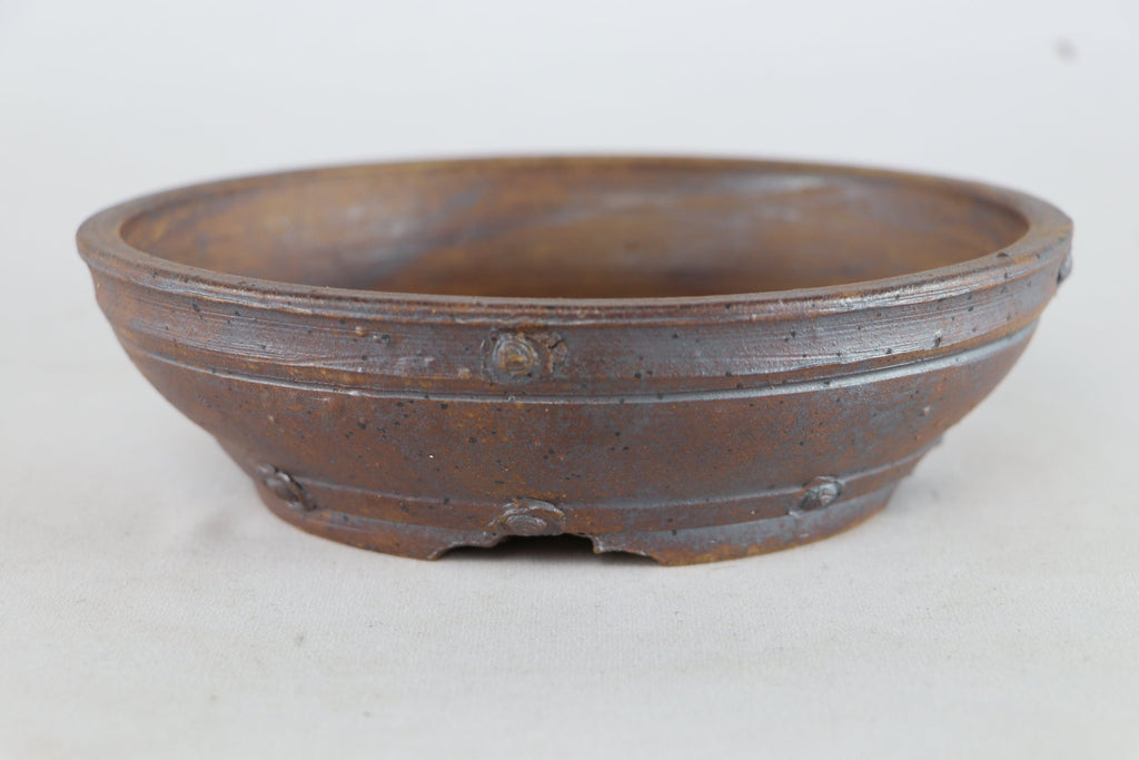 "Sam Miller Unglazed Round Bonsai Pot - 7"" x 2.25"""