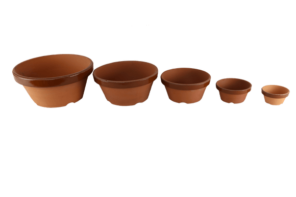 Imported Japanese Production Bonsai Training Pots - Shallow
