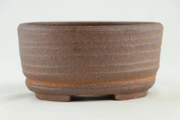 Ross Adams Unglazed Oval Bonsai Pot - 6