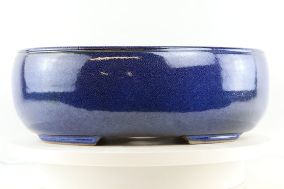 Ross Adams Royal Blue Glazed Oval Bonsai Pot - 15