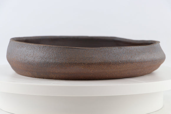 Ross Adams Unglazed Round Bonsai Pot - 11.25