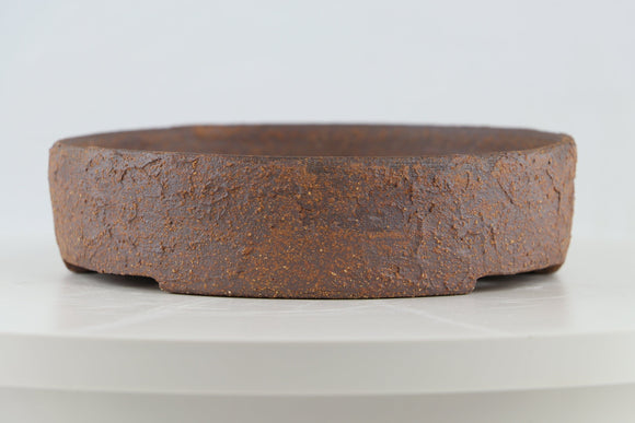 Ross Adams Unglazed Round Bonsai Pot - 7.75