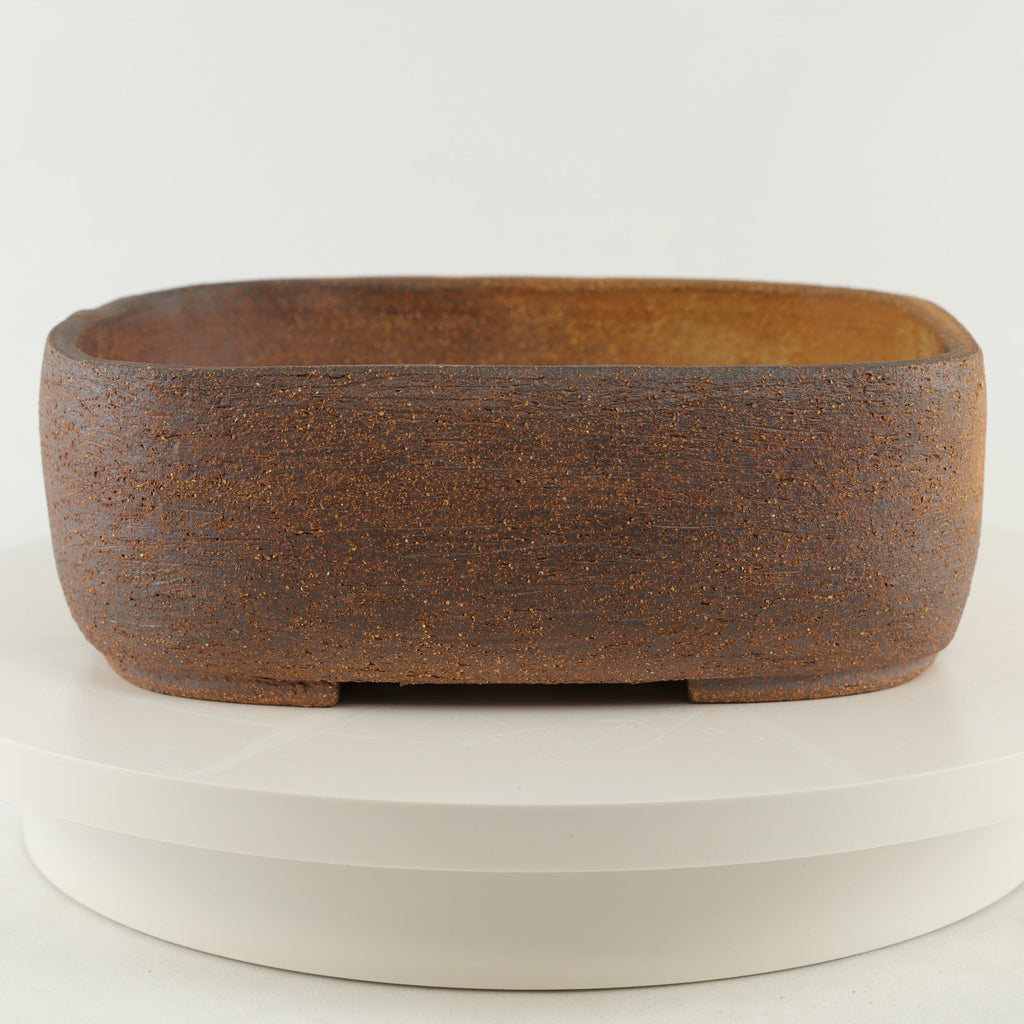 "Ross Adams Unglazed Rounded Rectangle Bonsai Pot - 10.5"" x 8"" x 3.75"""