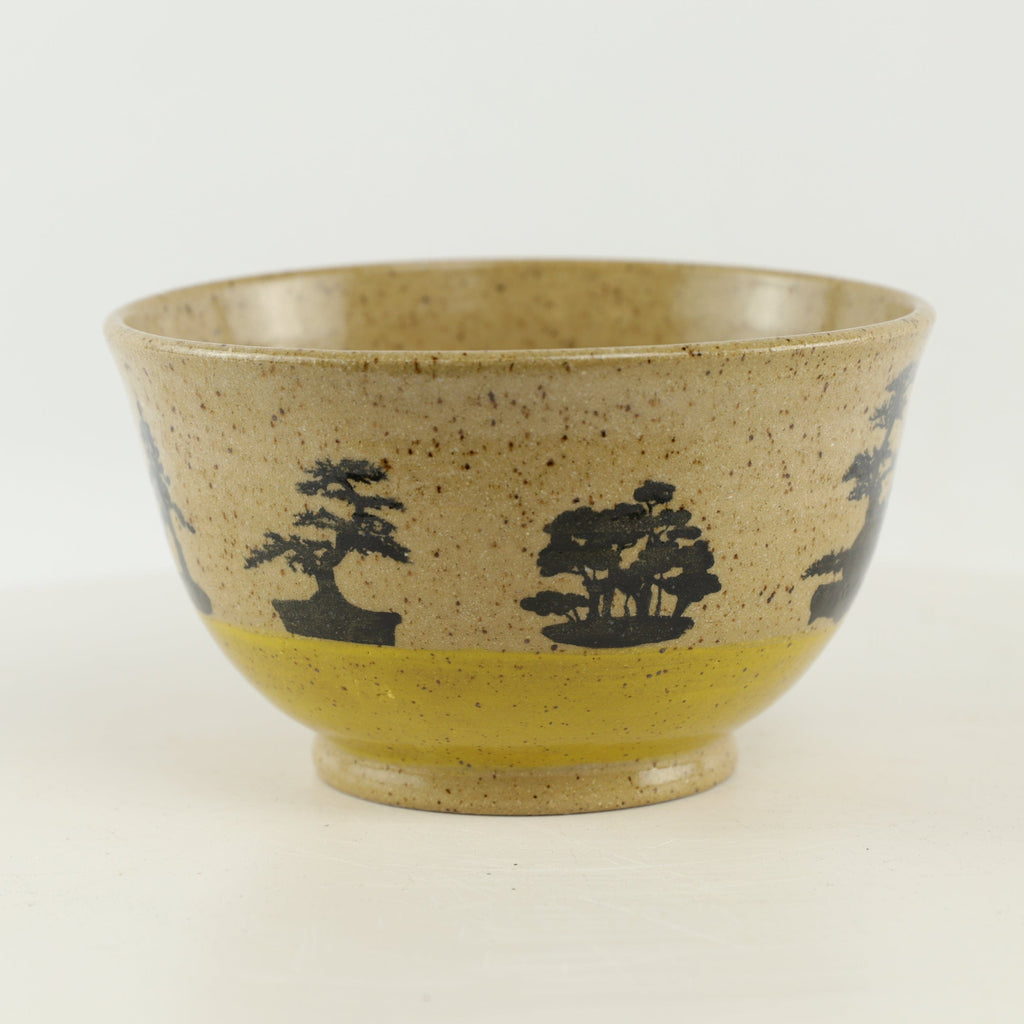 "Jodi Fox Tan and Yellow Bonsai Bowl - 5.75"" x 3.25"""