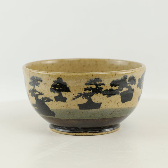 Jodi Fox Black and Tan Bonsai Bowl - 5.5