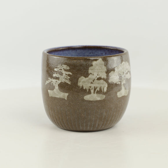 Jodi Fox Blue and Brown Bonsai Cup - 3