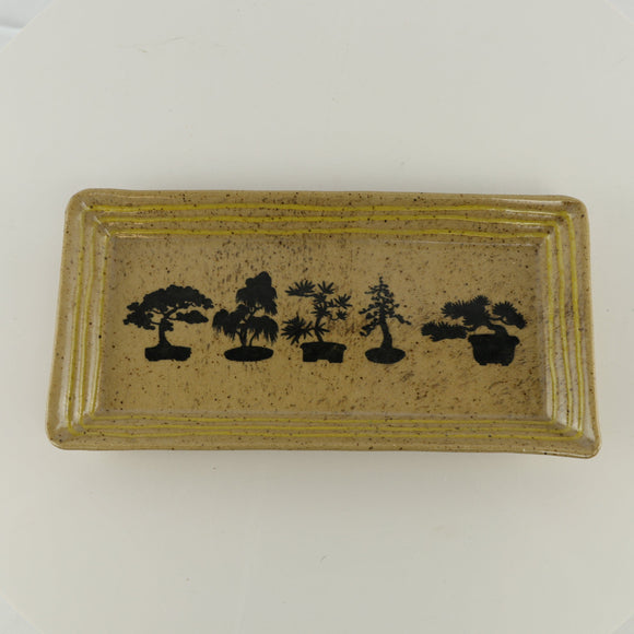 Jodi Fox Tan Rectangle Bonsai Sushi Serving Tray - 9