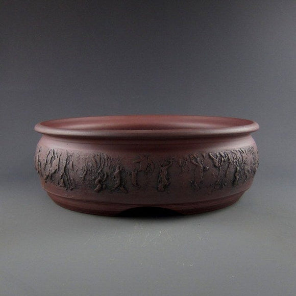 Lynn August Round Bonsai Pot - 8.25