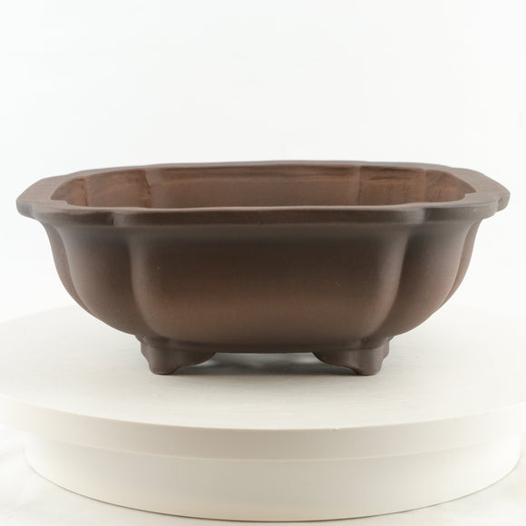 Tokoname Mr. Matsushita Masuo Unglazed Brown Bonsai Pot - 13