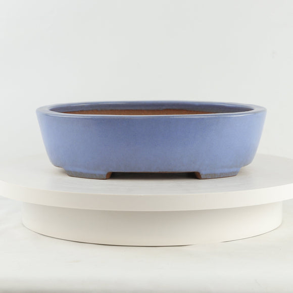 Tokoname Mr. Koie Kazufusa Glazed Oval Bonsai Pot - 11
