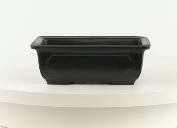 Black Small Rectangle High Impact Polystyrene Plastic Bonsai Pot - 6