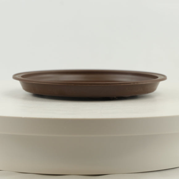 Brown Round Saucer High Impact Polystyrene Plastic Bonsai Pot - 7