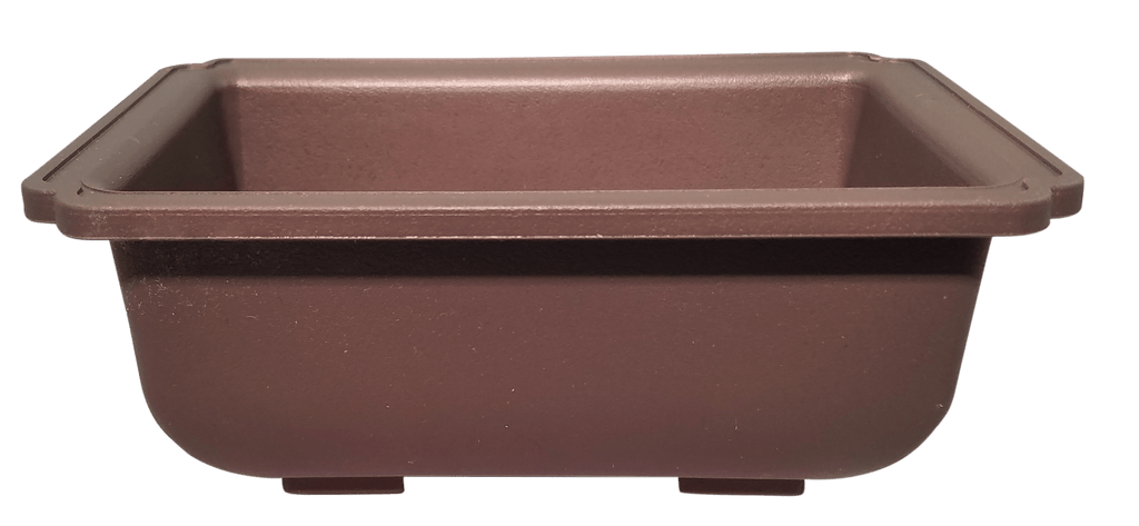 "L-1310 - 6"" x 4"" x 2.5"" Rectangle Shallow Plastic Bonsai Training Pots"