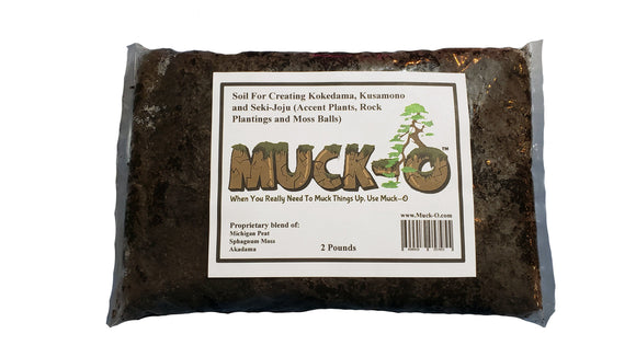 Muck-O Bonsai Muck Keto Soil For Making Kokedama, Kusamono and Seki-Joju (accent plants, rock plantings and moss balls)