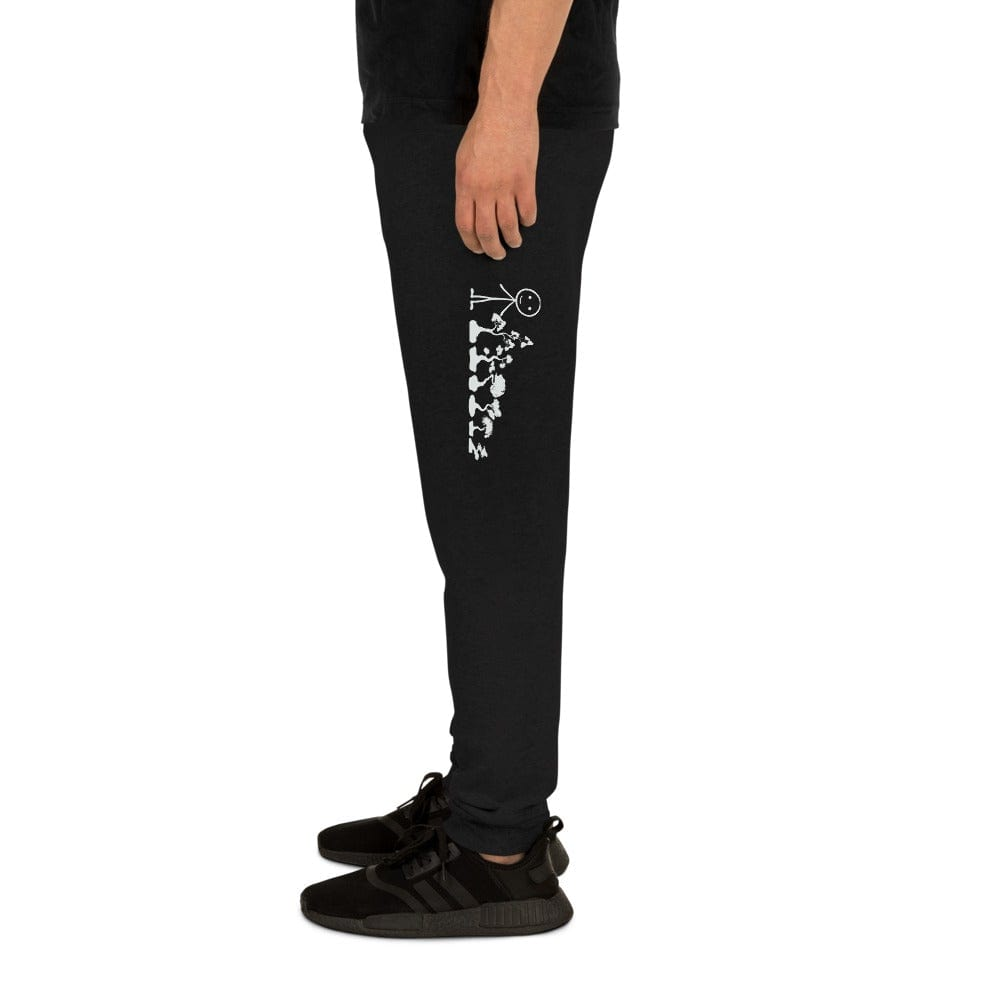 Black / S Superfly Bonsai Logo & Stick Figure Family Unisex Joggers Sweatpants