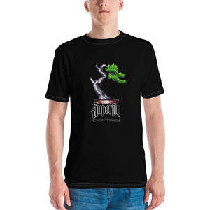 XS Superfly Bonsai Brian Soldano Artwork Front - Stick Figure Family Back - Men's T-shirt