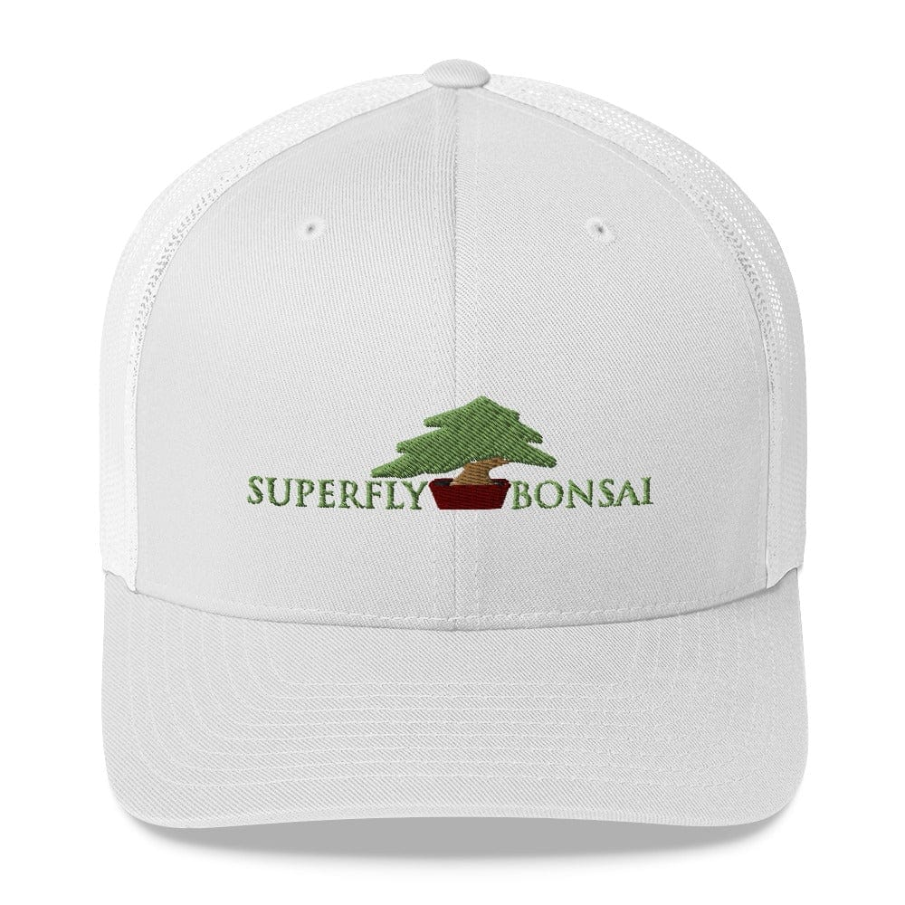 White Superfly Bonsai Logo Trucker Cap