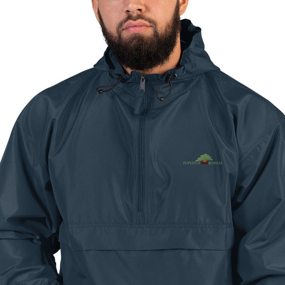 Navy / S Superfly Bonsai Logo Embroidered Champion Packable Jacket - Rain & Wind Resistant