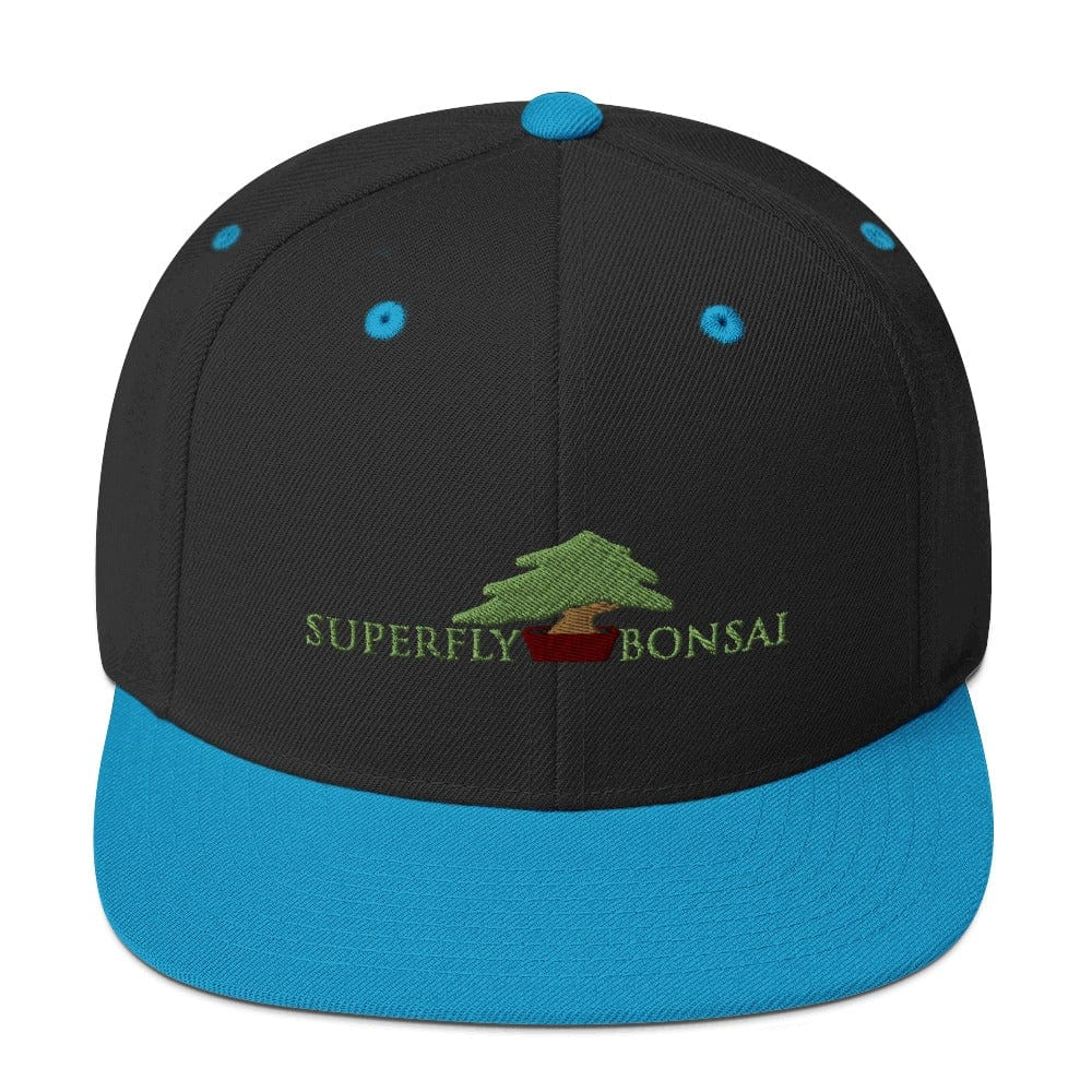 Black/ Teal Superfly Bonsai Logo Snapback Hat