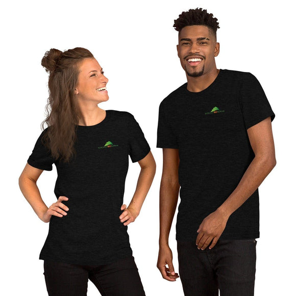 Black Heather / XS Superfly Bonsai Stick Figure Family Short-Sleeve Unisex T-Shirt