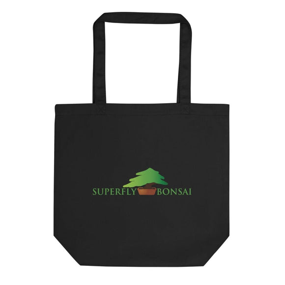 Black Superfly Bonsai Logo Eco Tote Bag