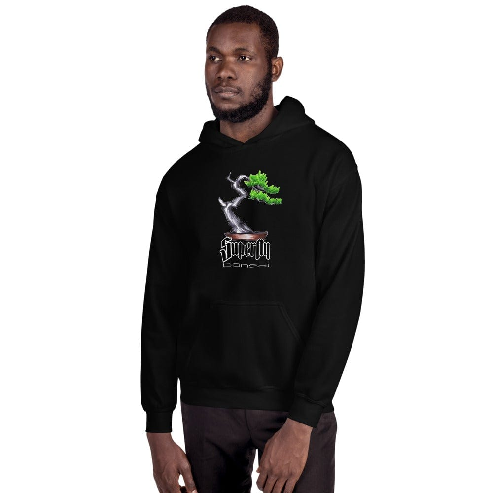 Black / S Superfly Bonsai Unisex Hoodie - Brian Soldano Artwork