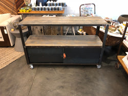 Rolling Bar Cart console table