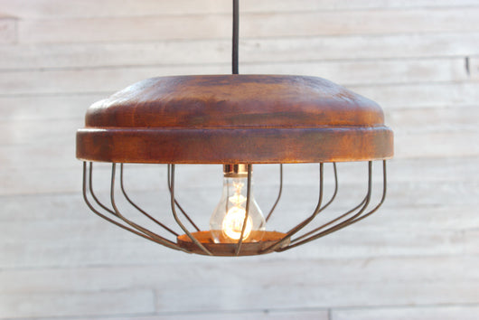 ... Repurposed Chicken Feeder Light Fixture ...