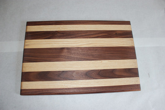 Thin cutting board striped wood species