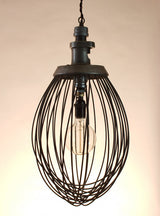 Large whisk hanging light
