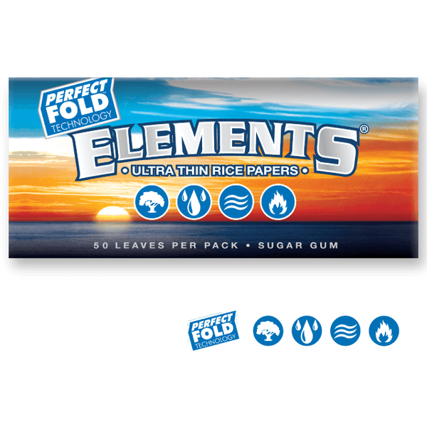 ELEMENTS Rolling Papers Elements 1¼ Perfect Fold Technology Rolling Papers 79mm