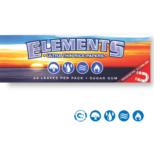 ELEMENTS Rolling Papers Elements 1¼ Rolling Papers 79mm w/ Magnet
