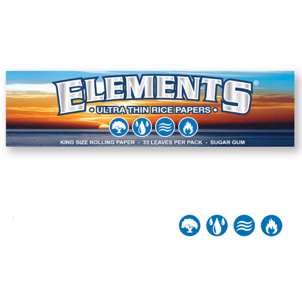 ELEMENTS Rolling Papers Elements King Size 110mm Rolling Papers