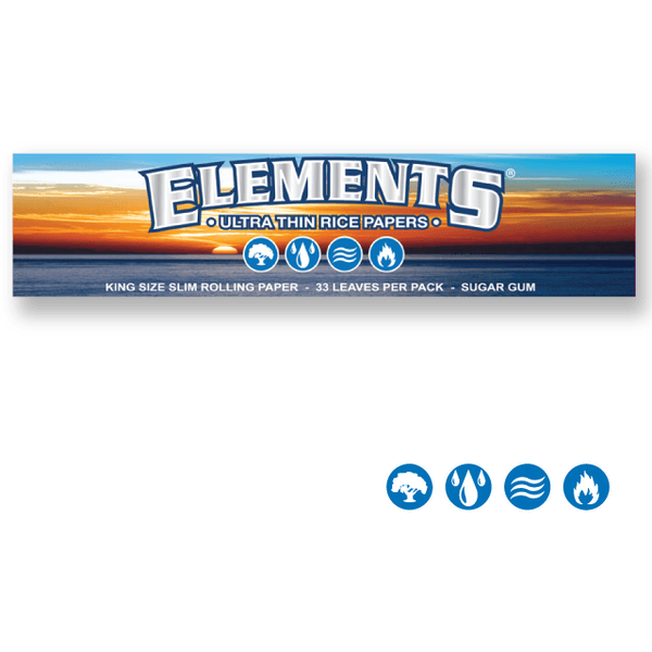 ELEMENTS Rolling Papers Elements King Size Slim 110mm Rolling Papers