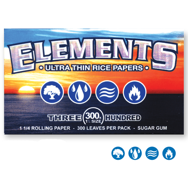 ELEMENTS Rolling Papers Elements Single Width Double Window 300 leaves Rolling Papers