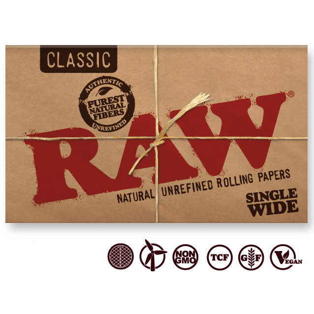 RAW Rolling Papers Raw Classic SW Double Window Rolling Papers
