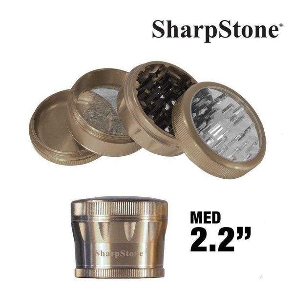 Sharpstone Grinder BRONZE Sharpstone 4 Pieces Glass Top Grinder 2.2'' V2