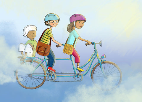 Children on Tandem Bike