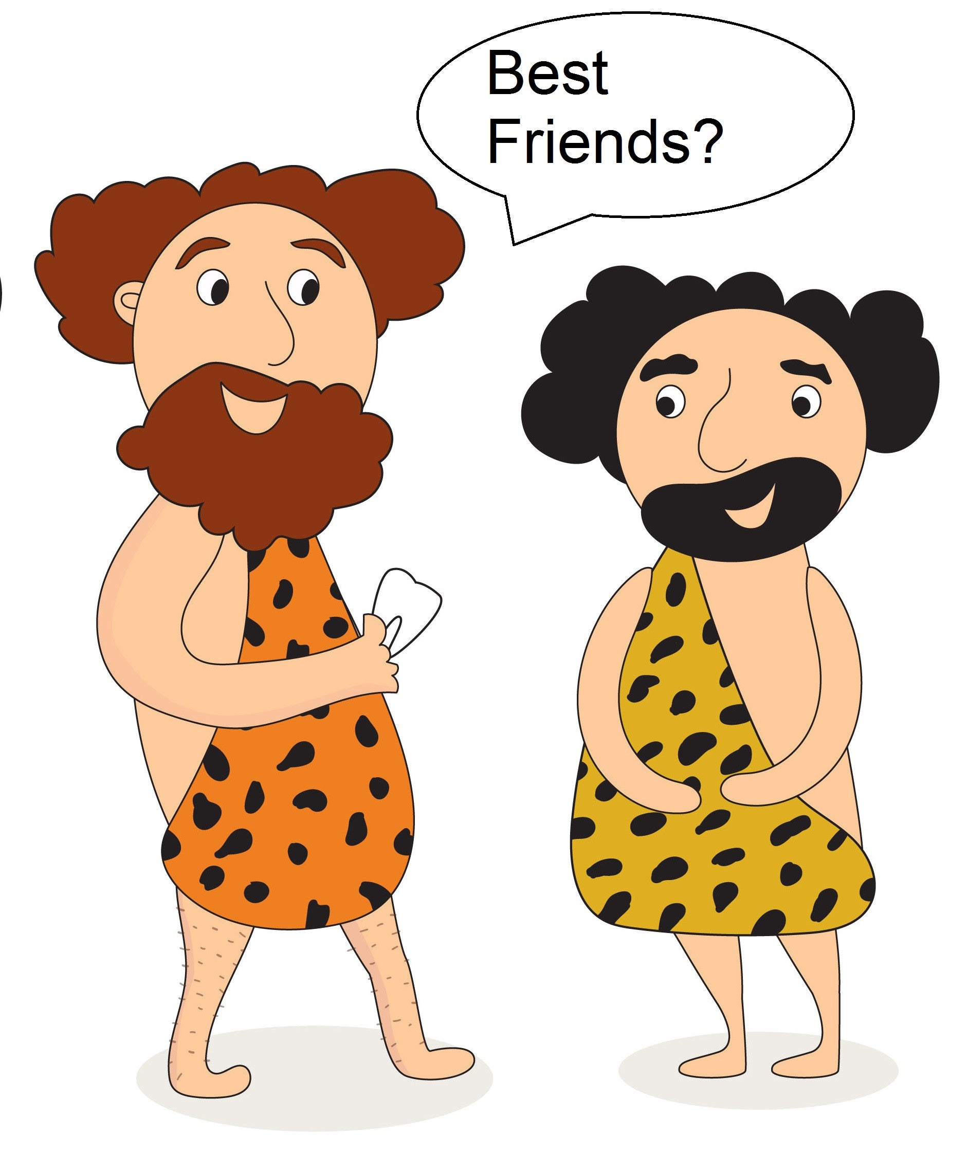 ExplorerHop.com  Guide to Gift Giving. Cave men exchanging presents.