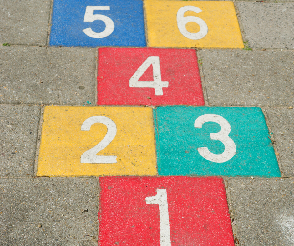 Play hopscotch with a fun math game