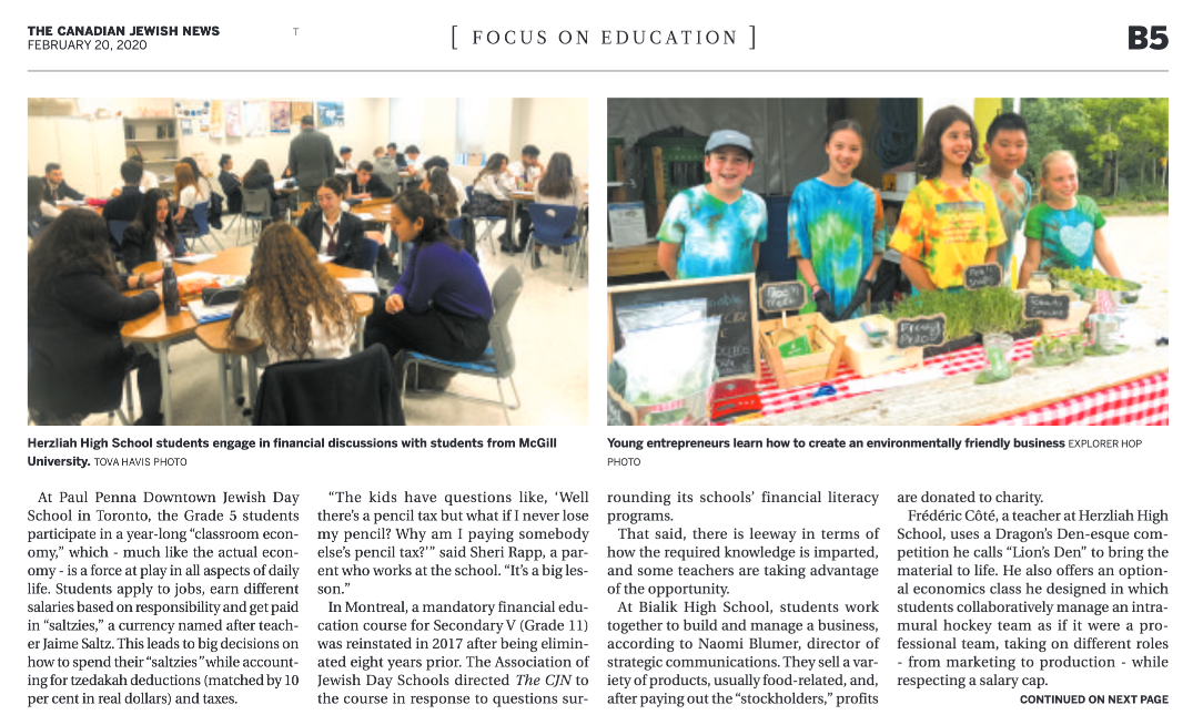 Explorer Hop in The Canadian Jewish News
