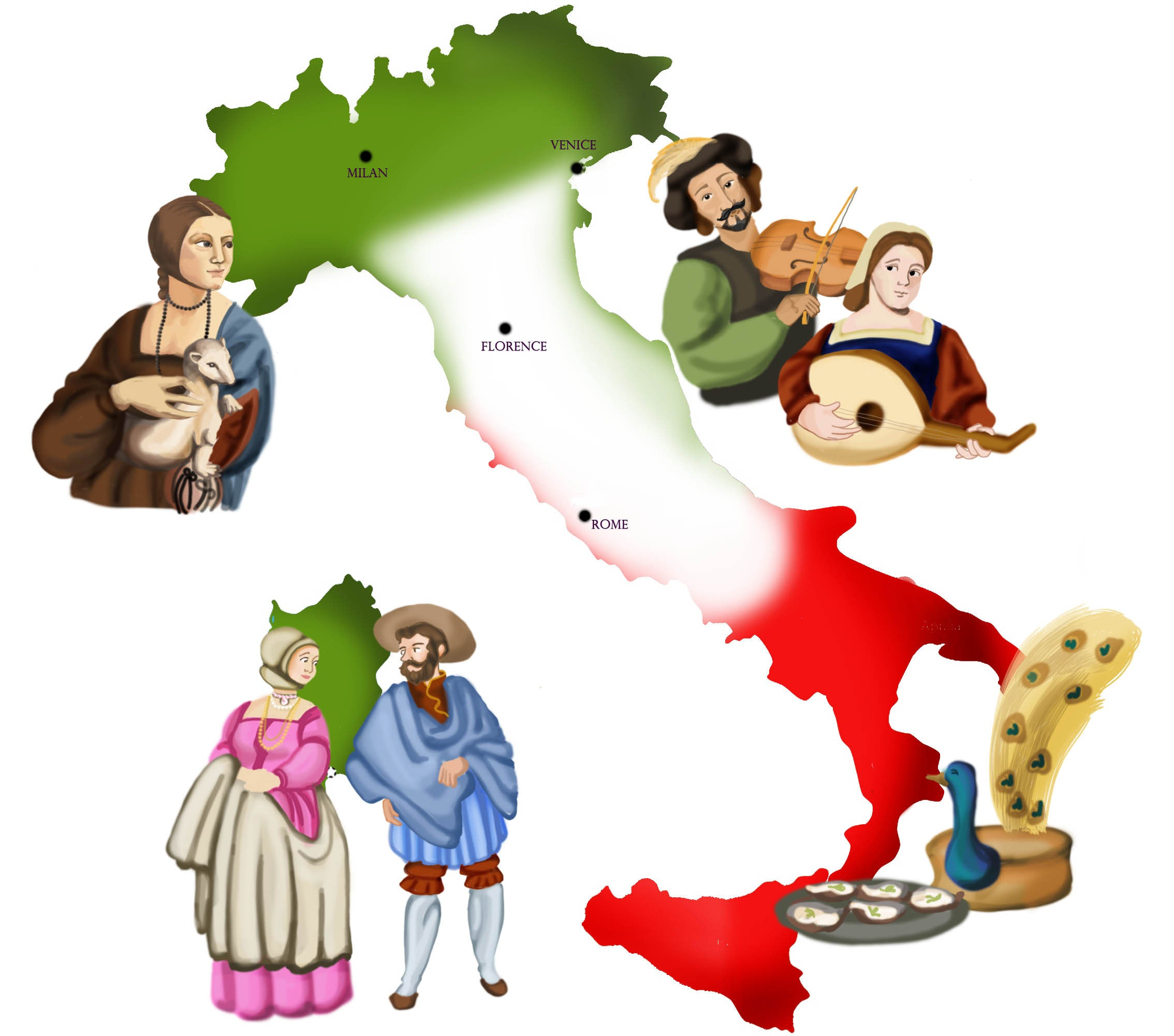 ExplorerHop.com  Mira & Teyus in Italy. Map of Italy