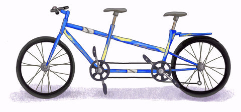 ExplorerHop.com  Where it all Began.  Tandem Bike. Luctus Velo