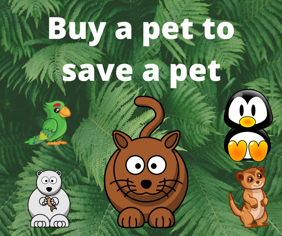 Buy a pet to save a pet