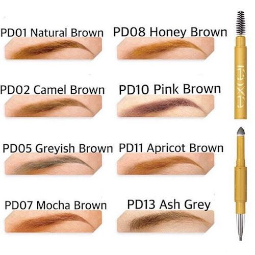 Sana Excel Powder and Pencil Eyebrow EX PD11 Apricot Brown|Sana Excel 三用细致眉笔 PD11 杏桃棕